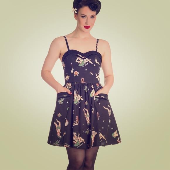 d496913542b Hell Bunny Gwyneth Hawaiian pinup Mini Dress 🌺